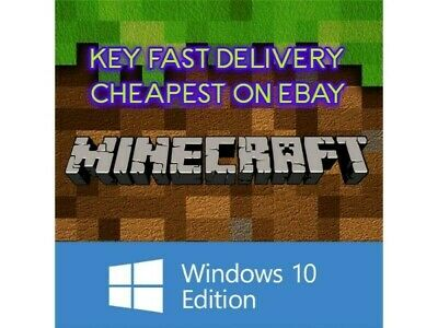 Minecraft Windows 10 Edition PC - Instant Code Full - Game Key - Delivery Fast