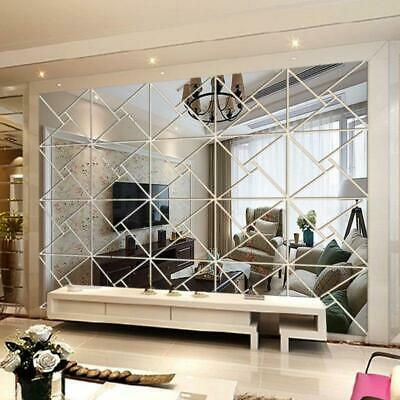 Acrylic DIY decorative mirror wall stickers pack of 4 tiles