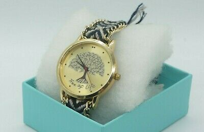 'Tree of Life' Designer Analog Watch with Hippy Friendship Band - ede