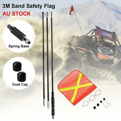 3M High Sand Safety Flag 4WD Off-road Vehicle Warning Simpson Desert AU STOCK