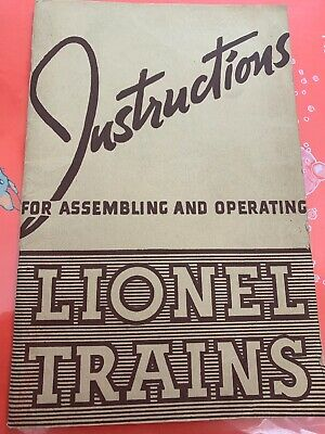 INSTRUCTIONS FOR ASSEMBLING AND OPERATING LIONEL TRAINS - COPYRIGHTED 1940 Look
