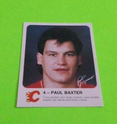 1985/86 Red Rooster Calgary Flames Hockey Paul Baxter Card