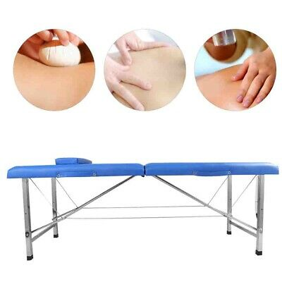 Folding Portable Massage Table Bed SPA Couch Beauty Therapy Tattoo 2 Section Bag