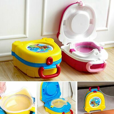Baby Toddler Kids Toilet Seat Training Potty Car Travel Seats Portable Y8O9D
