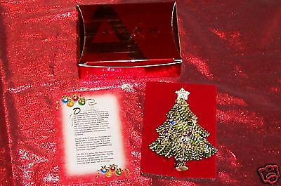 New In Box AVON 2008 Fifth Annual Collectible PIN CHRISTMAS TREE Nice GIFT