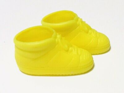 Barbie Skipper Neon Yellow Flat Foot Tennis Shoes High Tops Sneakers China