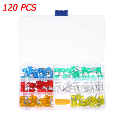 Mini Motorcycle Truck AUTO Blade FUSES Kit Case Assorted Assortment Car Fuse