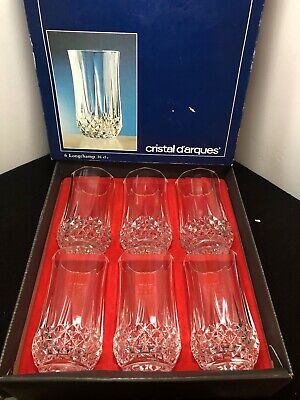 Set of 6 Crystal D'arques Longchamp Crystal  Water Glasses 36cl~France