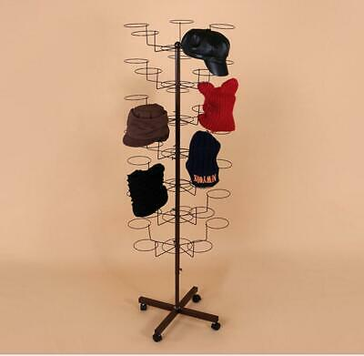 7 Tier Hat Cap Display Metal Stand Retail Cap Rack Adjustable Hanger Rotating