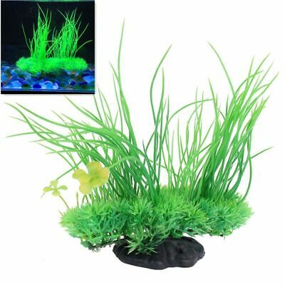 Artificial Plant Fish Tank Decoration Aquarium Plastic Water Grass Ornament UK