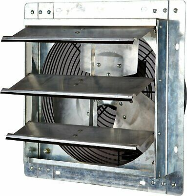 Heavy Duty 12 Variable Speed Shutter Exhaust Fan Wall-Mounted Home Cool Air