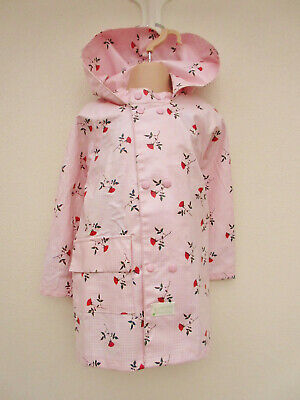 Blue Fish - Girls Pink Mix Floral PVC Hooded Raincoat - size 2/3 years