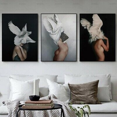 1 PC Canvas Painting Wall Art Picture Print on Angel Women Home Decor No Frame