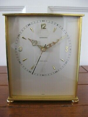 Vintage Brass Garrard Precision   Battery Mantel Clock