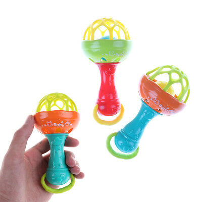Baby Intelligence Plastic Hand Bell Rattle Funny Educational Toy Xmas  Gifts  IO