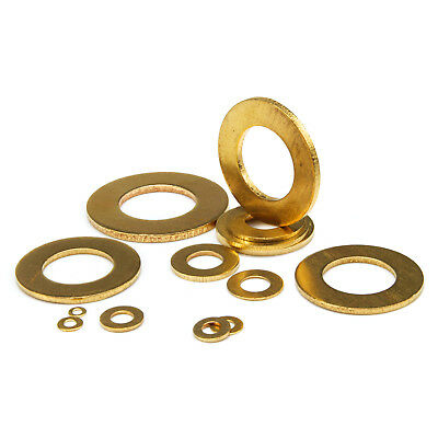 10pcs Brass Flat Washer Copper Gasket M2.5,M3,M4,M5,M6,M8,M10,M12,M14,M16,M18