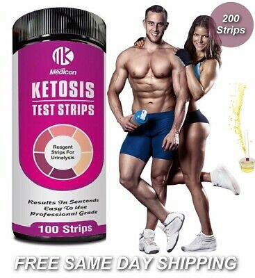 200 Ketone Test Strips - Ketostix Ketosis Keto Atkins Diet Paleo 🔥 High Quality