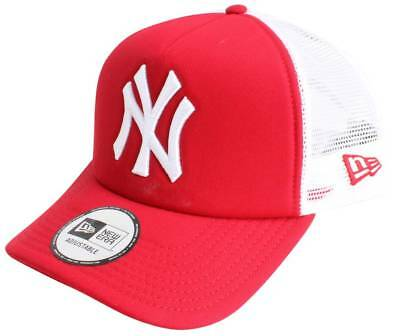 New Era 9FORTY New York Yankees Clean A Frame Trucker Cap - Red/White