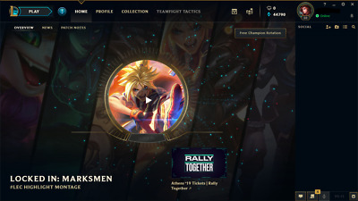 League of Legends Account EUW Unranked LvL30 40k BE