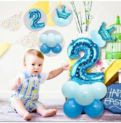 16pcs Number Foil Balloons 32 inch Digit Helium Ballons Birthday Party Decor UK