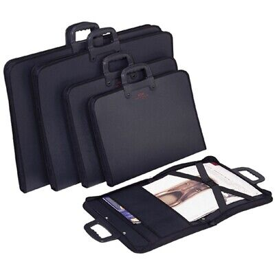 Economy Student Art Portfolio Zipped with Carry Handle- Black- (Size Fit A2 &A3)