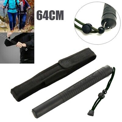 Portable Retractable Self Protector Three Sections Telescopic Stick Outdoor Whip