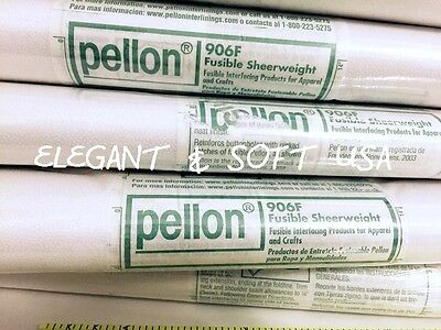 906F Pellon fusible interfacing lightweight/ sheer weight  (Sale by yard)