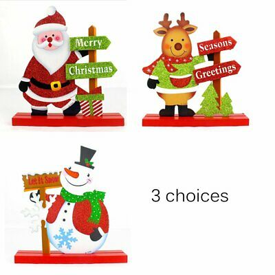 Christmas Decorations Wooden Desktop Small Ornaments for Home Office Desktop+%