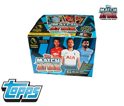 Match Attax 2018/2019 Premier League BOX 50 Packets Of Trading Cards