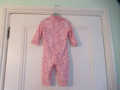 12-18m: Pretty sunsuit: UPF50+: Pink butterflies: Mothercare: Good condition