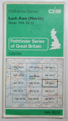 1978 Old OS Ordnance Survey Pathfinder 1:25000 Map NN 02/12 Loch Awe (North)