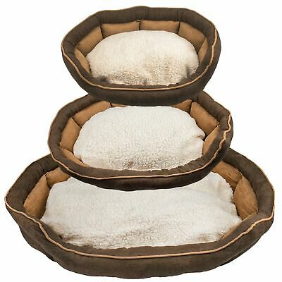 Deluxe Soft Washable Dog Pet Warm Basket Bed Cushion with Fleece Lining cat sofa