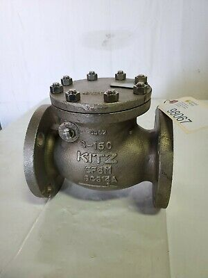 Kitz Stainless Steel 15OUOAM- GRF Swing Check Valve, Class 150, Flanged
