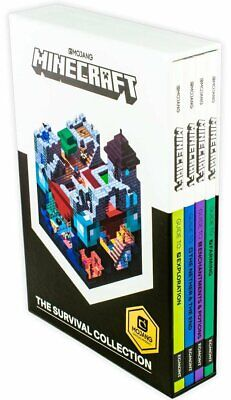 Minecraft Survival Collection 4 Books Collection Box Set Pack Exploration,  NEW!