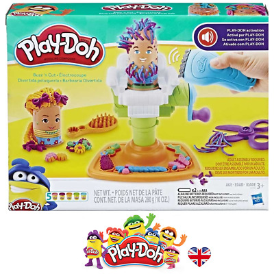 PLAY-DOH BUZZ N CUT PLAYSET Barber Shop Mould Play Doh Set Kids Gift