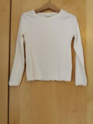 Next Girls Cream Ribbed Long Sleeved Top 5 Years