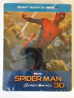 Spider-Man Homecoming 3D Blu-ray Steelbook Film Arena REGION-FREE no dents mint