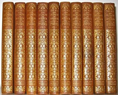 LEATHER Set;Wit Humor America LITERATURE!Stage United States Twain Complete RARE