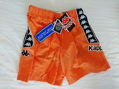 Kappa Kids/Men People On The Move Short Great for Sport or Swimming ORANGE/BLACK