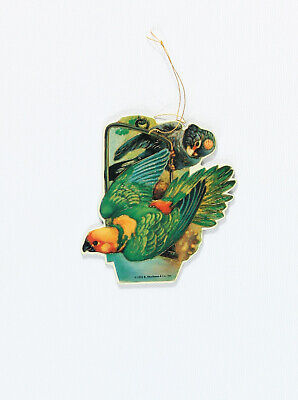 PARROT CHRISTMAS ORNAMENT Moustached Scarlet-Chested Rosey