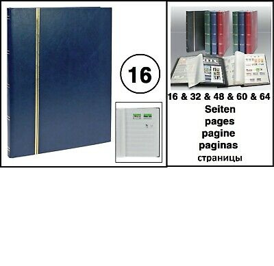 Look 1110 Blue A4 Stamp Album Stockbook Album 16 White Pages