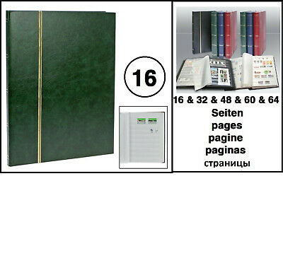 Look 1110 Green A4 Stamp Album Stockbook Album 16 White Pages