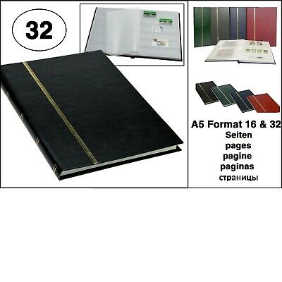 Look Black Stamp Album Stockbook Album A5 Book Style 32 White Pages