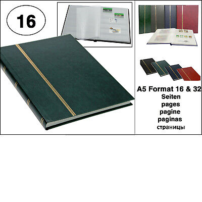 Look 1131 Green Stamp Album Stockbook Album A5 Book Style 16 White Pages