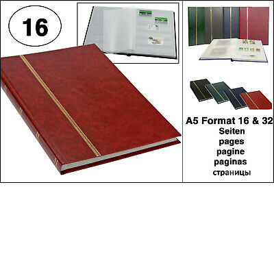 Look 1131 Red Stamp Album Stockbook Album A5 Book Style 16 White Pages