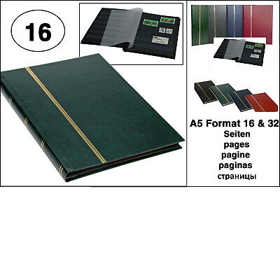 Look Green Stamp Album Stockbook Album A5 Book Style 16 Black Pages