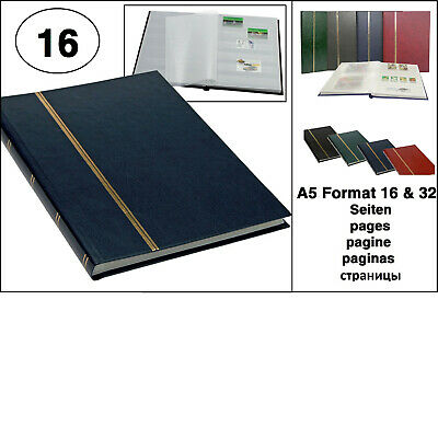 Look 1131 Blue Stamp Album Stockbook Album A5 Book Style 16 White Pages