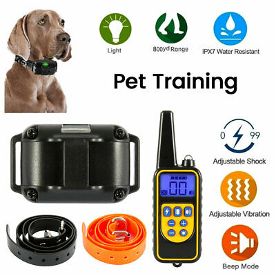 Waterproof Dog Shock Collar With Remote Electric for Large 880 Yard Pet Training