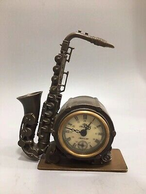 Chinese Old copper Musical instrument Mechanical clock table Home decoration