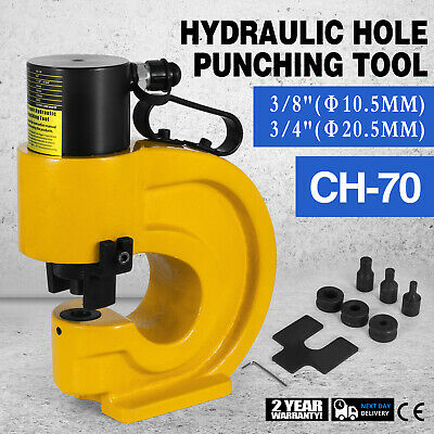CH-70 Hydraulic Hole Punching Tool Puncher 35T Electric Pump Busbar Flat Seat